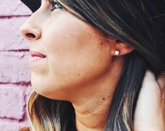 Cube Stud Earrings Small Gold Stud Earrings Gold