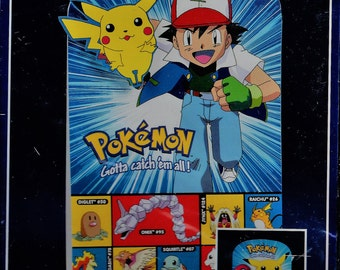 2 Vintage 1999 Pokémon Designware Stand-UpParty Centerpiece  New Old Stock  in Bag