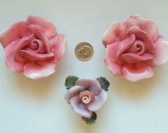 Porcelain Pink Roses Mosaic Supplies