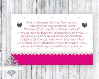 Book Insert - Baby Shower - Heart of Love