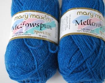 2 skeins Mary Maxim Mellowspun Sport/DK