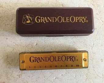 Vintage Grand Ole Opry Harmonica / Key of C / Made by Huang China Souvenir