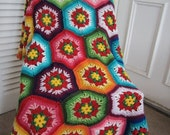 ON SALE - 10% OFF Granny Square Crochet Blanket