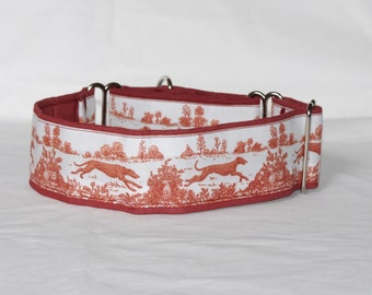 """2"""" Martingale Dog Collar Greyhounds Running in Field"""