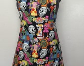 Day of the Dead apron / full apron /woman's apron
