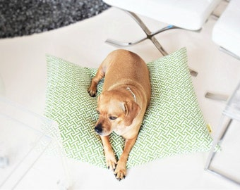 Floor Pillow Cover-Dog Bed-Dog Bed Pillow-Small Dog Bed-Dog Bed Cover-Reversible Pillow-Dog Bed Print-Dog Bedding-Designer Dog Bed