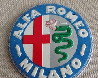 Vintage Alfa Romeo Tin Magnet Badge     C941