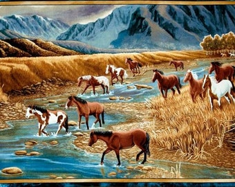 Quilting Treasures - Sundance by Lane Kendrick - Mountain Horse Panel