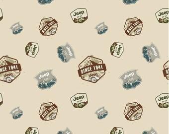 Riley Blake - Jeep - JEEP Brand - Badges - Cream