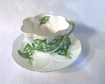 "Vintage Teacup and Saucer, Shelley ""Lily of the Valley"""