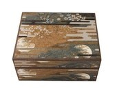 Wooden Jewelry Box, Japanese Washi Paper, Jan McGregor Studios, Handcrafted in Japan