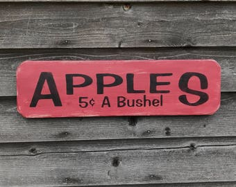 Primitive decor, primitive sign, rustic decor, rustic sgin, wood sign, home decor, apple Sign, country kitchen,  outdoor decor,  sign