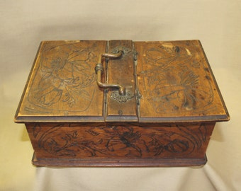C. 1890's Two Compartment Box w/Handle