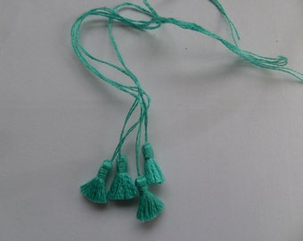 Set of 4 Turquoise Tassels, trimming for Dolls House Furnishings 187