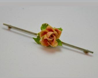 1950s Flower Resin Lapel Pin