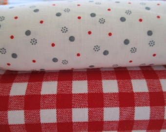 Quilting  Fabric Bundle - Quilting Fabric by the Yard - 1/2 Yard Ea - Total of 1 Yard - FREE SHIPPING
