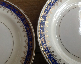 Homer Laughlin Admiral Bread and Butter Plates Set of 2