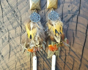 Howlite Feather Drops