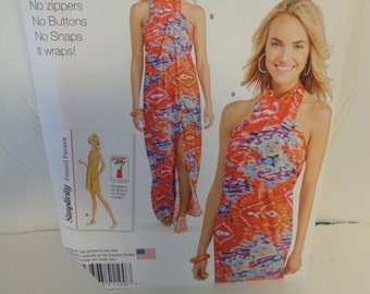 Cover Up Gown Sewing Pattern UNCUT Simplicity 1100 Sizes 4-26-