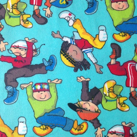 Children playing flannel fabric fabric by the yard craft for Children s flannel fabric by the yard