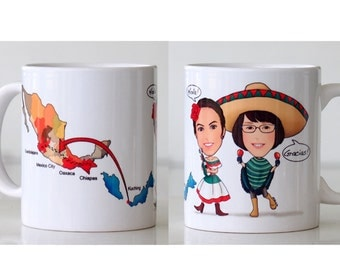 Personal Caricature Mug/Wedding Caricature Mug