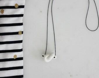 Handmade knot porcelain necklace