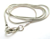 Stainless Steel Snake Chain Necklace - 16.25""