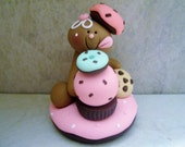 Gingerbread Man - Sweets - Chocolate - Mint - Donuts - Cupcake - Cookie - Polymer Clay - Christmas - Holiday Figurine