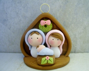 Nativity - Polymer Clay - Christmas - Holiday Ornament