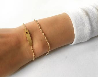 Multi strand bracelet, stacking bracelet set, double wrap bracelet, Simple Gold bracelet, simple silver bracelet, Minimalist bracelet
