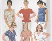 Basic Shirt Pattern Simplicity 8523 Sizes 20 - 24 Uncut