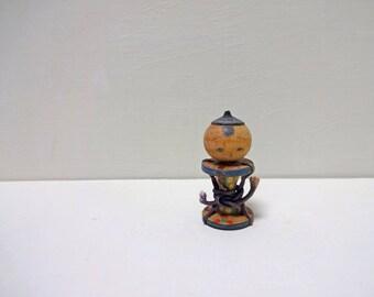 1.8inch Vintage Japanese Miniature Wood KOKESHI Doll
