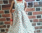 Vintage Print Floral SunDress for Barbie, Curvy Barbie or similar fashion doll