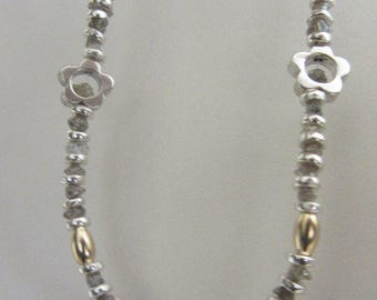 Uncut Diamond Silver Necklace - Rough Diamond Necklace - Ready to Ship