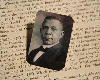 Booker T. Washington brooch lapel pin Literature African American History