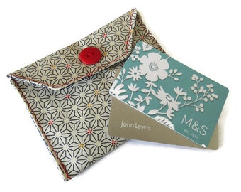 Fabric Gift Card Wallet - Fabric Case for Cards - Business Card Wallet - Gift Wallet for Jewellery - Jewellery Gift Bag
