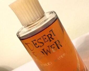 Vintage Shulton DESERT FLOWER Toilet Water - Almost Full 3 1/2 oz. Splash Bottle