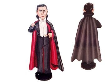 Bela Lugosi Dracula Hand Painted 2D ArtFigurine