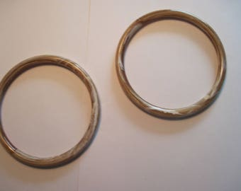"1 Pair Round 4"" Tan Swirl color Marbella Plastic Hoop / Ring / Craft Project Supply"