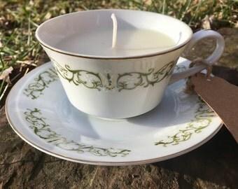 Vanilla Bean Teacup Candle and Saucer