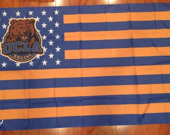 UCLA Bruins Stars & Stripes 3 X 5 Feet Flag Banner NCAA College University Fan