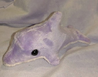Purple dolphin plush