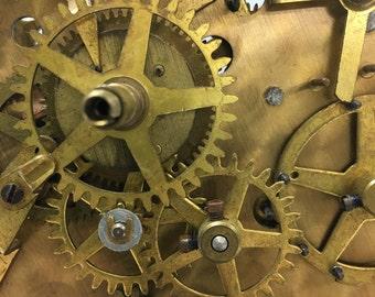 Vintage 40s Clock Gears, parts