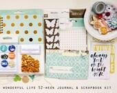 Wonderful Life 52 Weeks Journal and Scrapbook Kit
