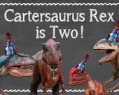 Dinosaur Party Poster Backdrop 2x3'