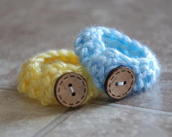 Twin Baby ID Bracelets- Blue & Yellow- Twin baby anklets