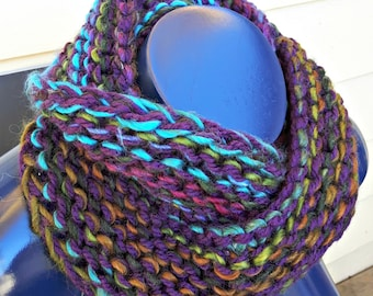 Royal Purple Mix Infinity Scarf Outlander Inspired Fall Winter Cosplay Steampunk Renaissance