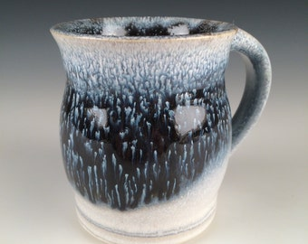 Mug - Pottery Mug - Blue and White - Drinking Vessel - Stoneware Mug - Beer Mug - Handmade Mug - Coffee Mug - Fathers Day