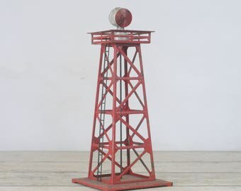 Vintage Lionel Trains No.394 Rotating Beacon With Metal Lattice Work Tower Electric #4