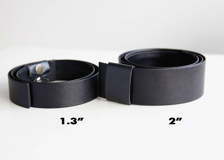 black waist belt modern and minimalist leather look flat